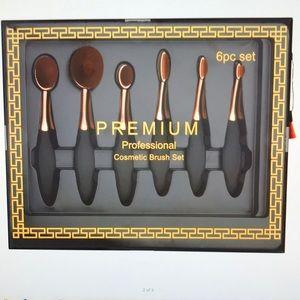 New Premium Professional Cosmetic 6 pc Brush Set